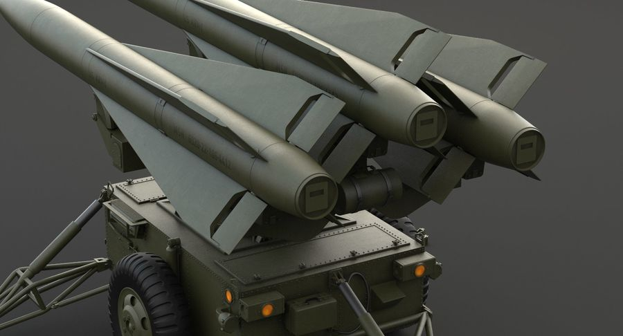 Hawk Missile Launcher royalty-free 3d model - Preview no. 9