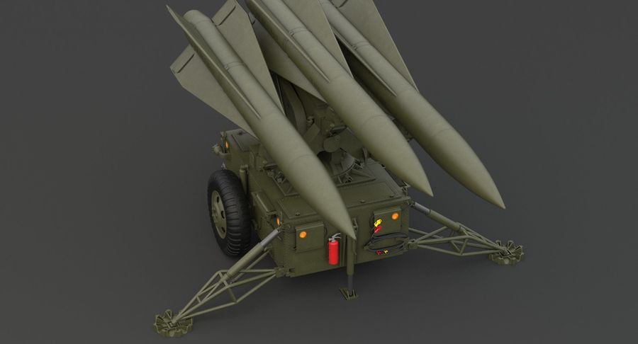 Hawk Missile Launcher royalty-free 3d model - Preview no. 10