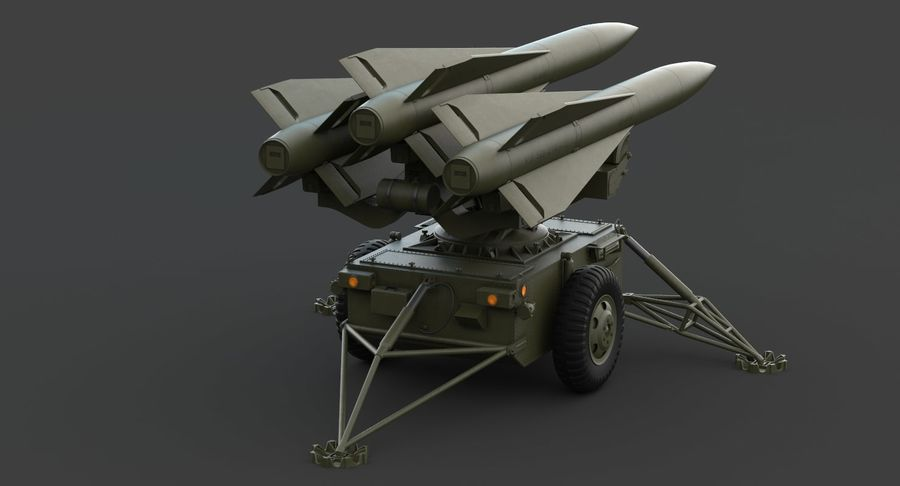 Hawk Missile Launcher royalty-free 3d model - Preview no. 5