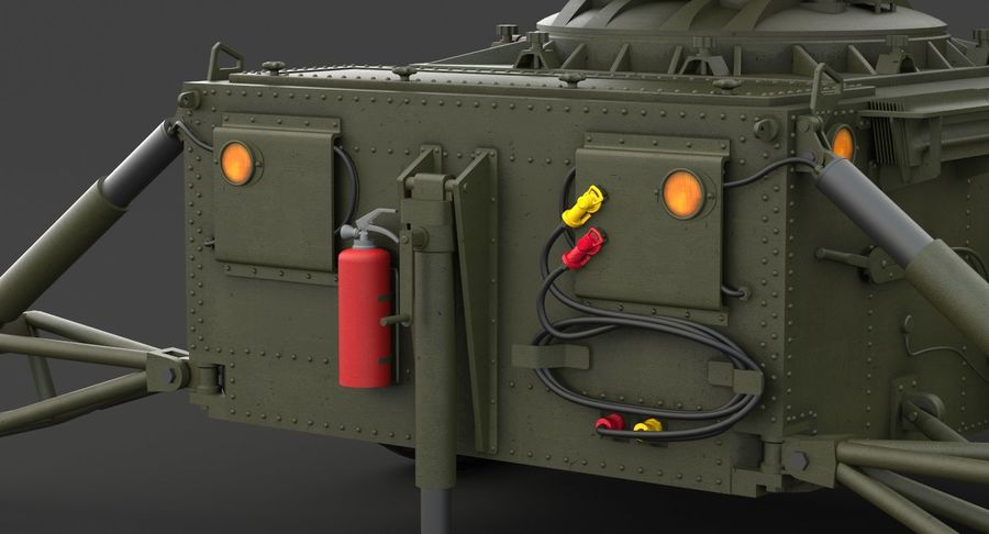 Hawk Missile Launcher royalty-free 3d model - Preview no. 20