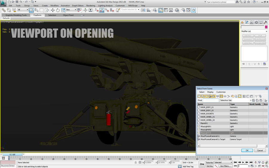 Hawk Missile Launcher royalty-free 3d model - Preview no. 23
