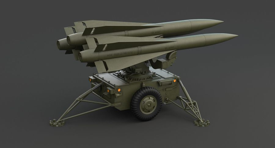 Hawk Missile Launcher royalty-free 3d model - Preview no. 11