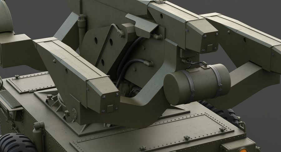 Hawk Missile Launcher royalty-free 3d model - Preview no. 19