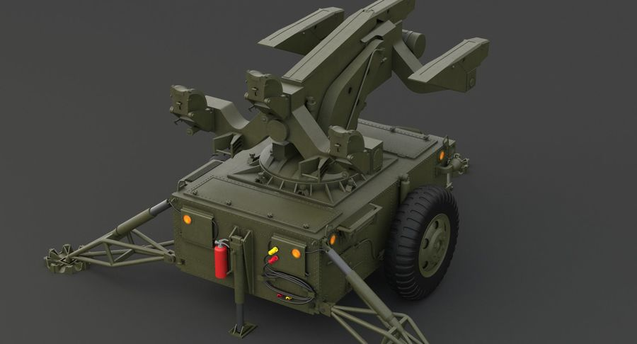 Hawk Missile Launcher royalty-free 3d model - Preview no. 15