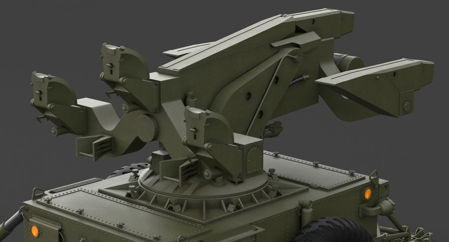 Hawk Missile Launcher royalty-free 3d model - Preview no. 17