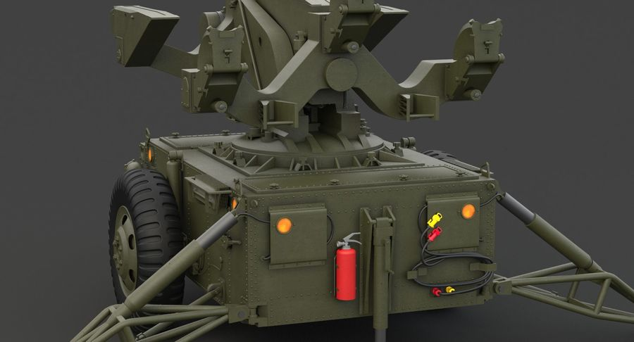 Hawk Missile Launcher royalty-free 3d model - Preview no. 16