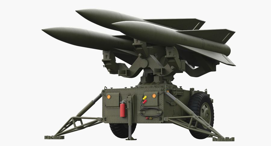 Hawk Missile Launcher royalty-free 3d model - Preview no. 2