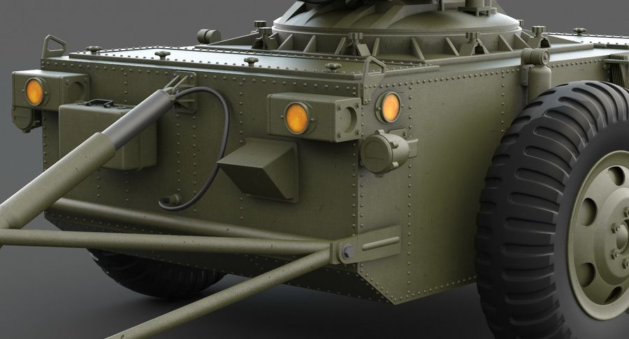 Hawk Missile Launcher royalty-free 3d model - Preview no. 21