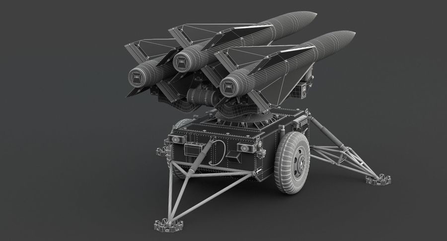 Hawk Missile Launcher royalty-free 3d model - Preview no. 6