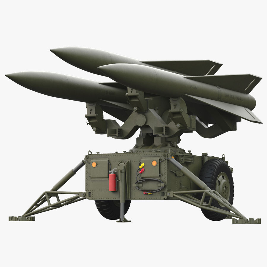 Hawk Missile Launcher royalty-free 3d model - Preview no. 1