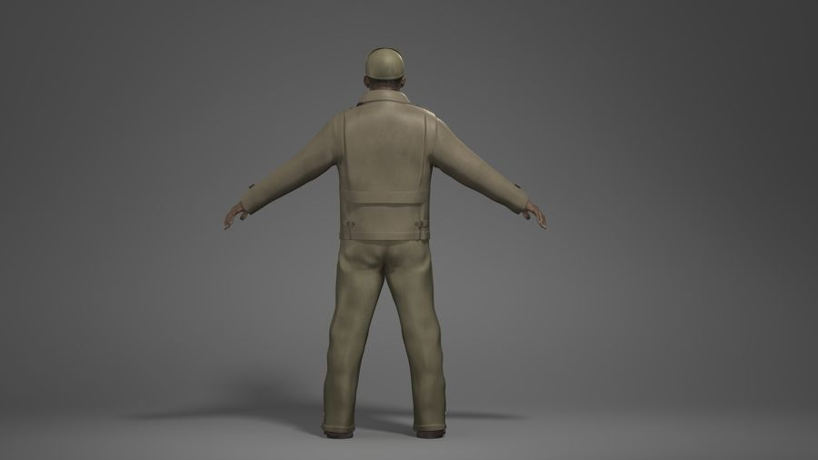 Man Character -B royalty-free 3d model - Preview no. 5