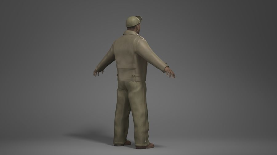 Man Character -B royalty-free 3d model - Preview no. 4