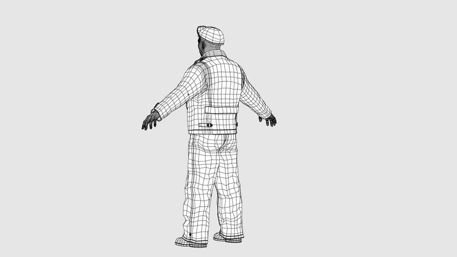 Man Character -B royalty-free 3d model - Preview no. 14