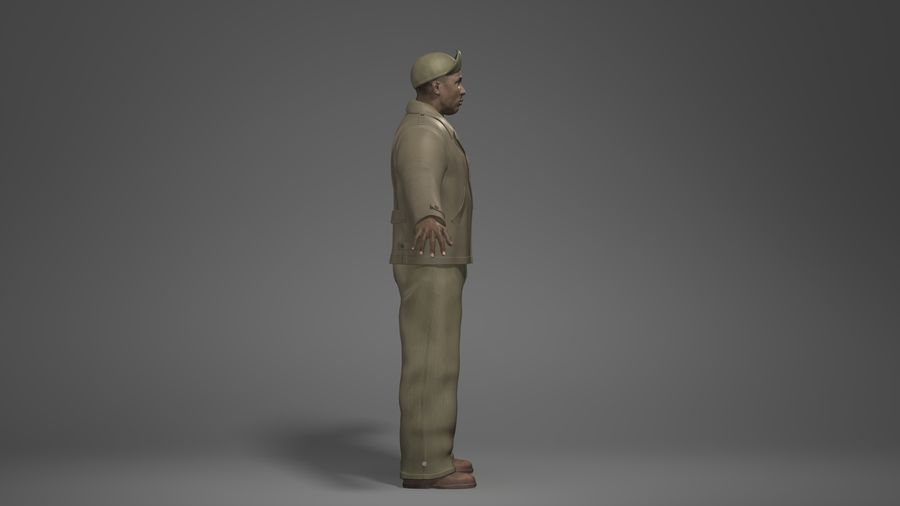 Man Character -B royalty-free 3d model - Preview no. 3