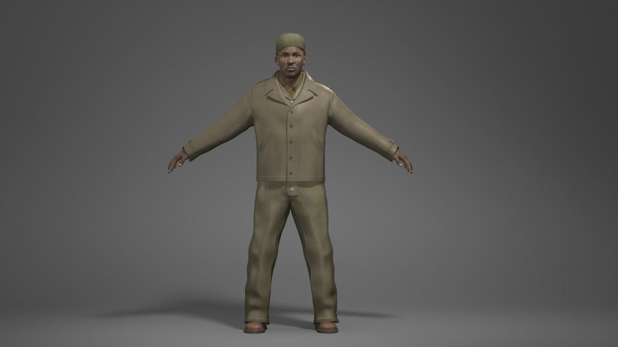 Man Character -B royalty-free 3d model - Preview no. 1