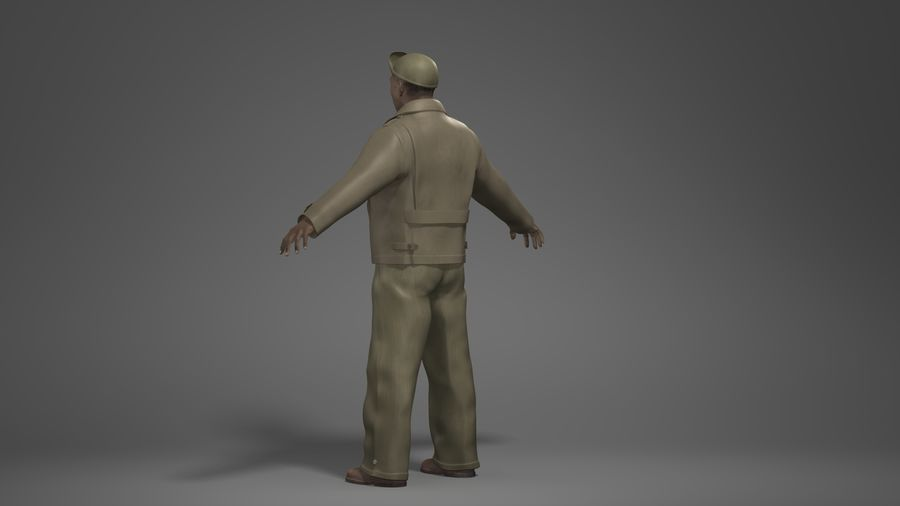 Man Character -B royalty-free 3d model - Preview no. 6