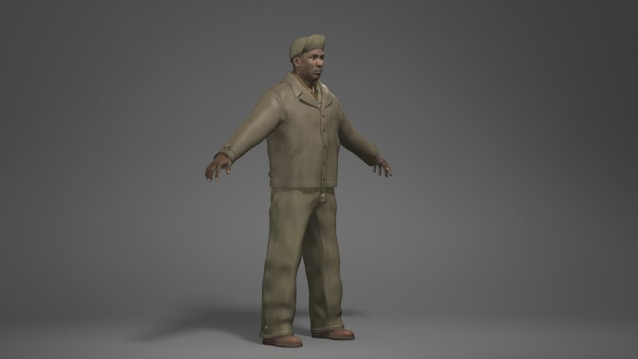 Man Character -B royalty-free 3d model - Preview no. 2
