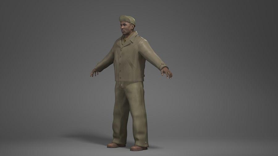 Man Character -B royalty-free 3d model - Preview no. 8
