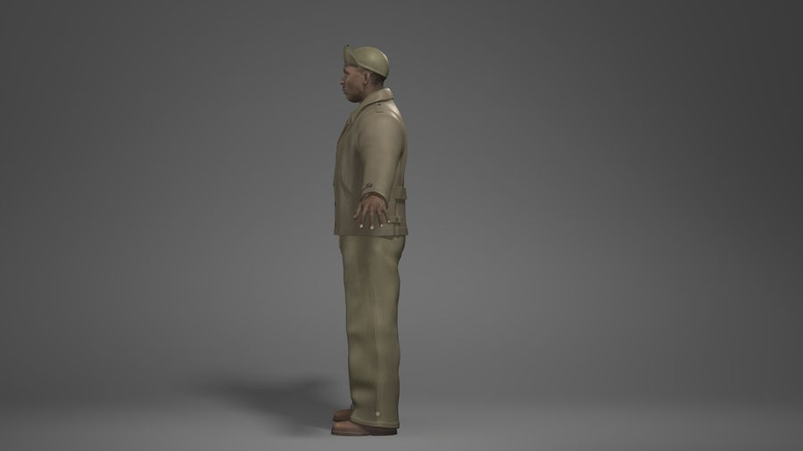 Man Character -B royalty-free 3d model - Preview no. 7