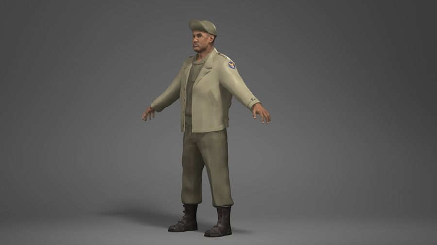 Personnage homme -C royalty-free 3d model - Preview no. 8