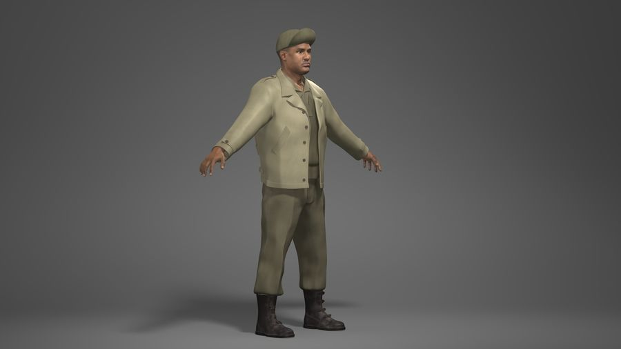 Personnage homme -C royalty-free 3d model - Preview no. 2