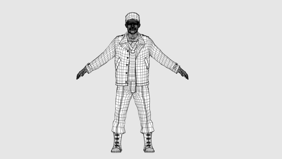 Personnage homme -C royalty-free 3d model - Preview no. 9