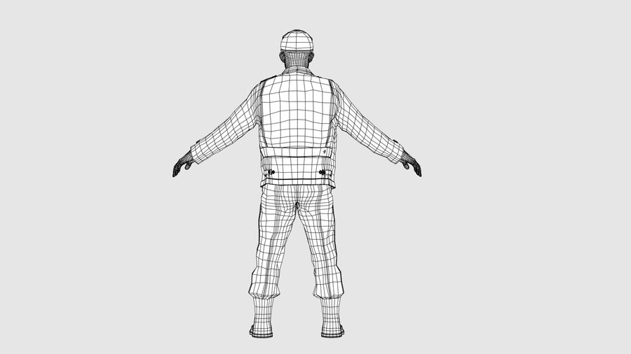 Personnage homme -C royalty-free 3d model - Preview no. 13