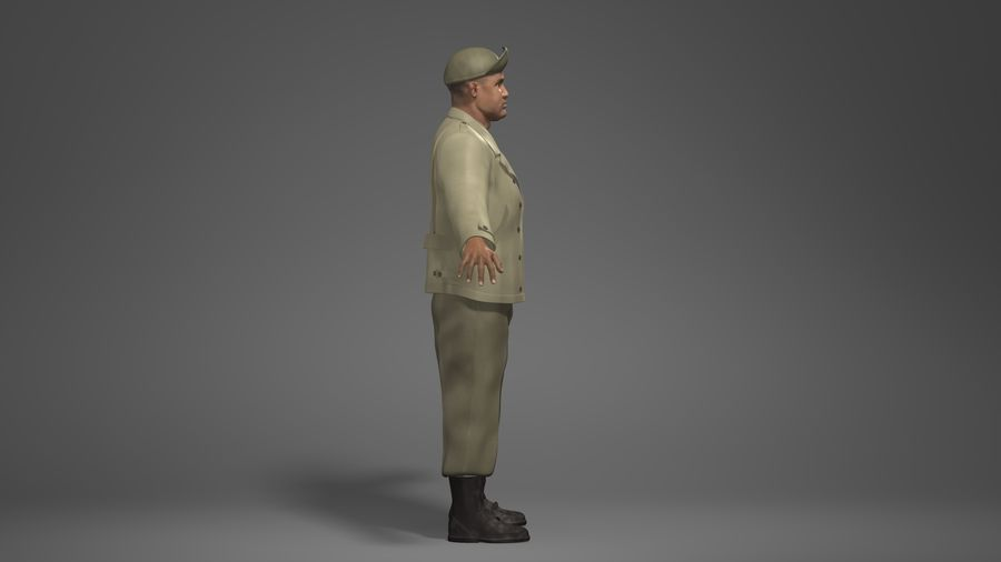 Personnage homme -C royalty-free 3d model - Preview no. 3