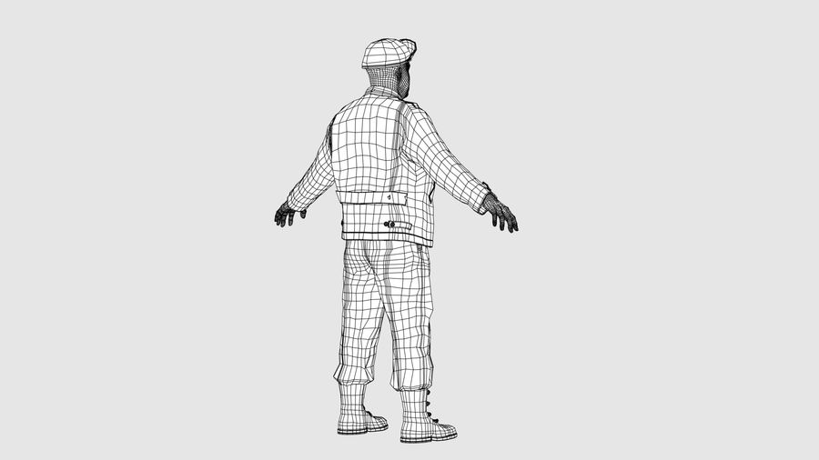 Personnage homme -C royalty-free 3d model - Preview no. 12
