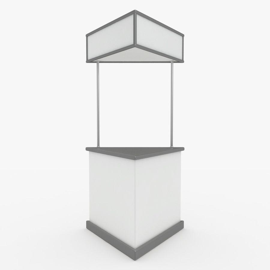 商业摊位集合 royalty-free 3d model - Preview no. 17
