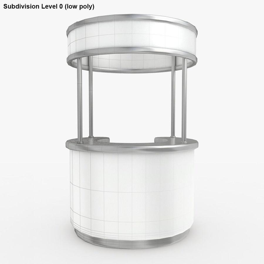 商业摊位集合 royalty-free 3d model - Preview no. 6