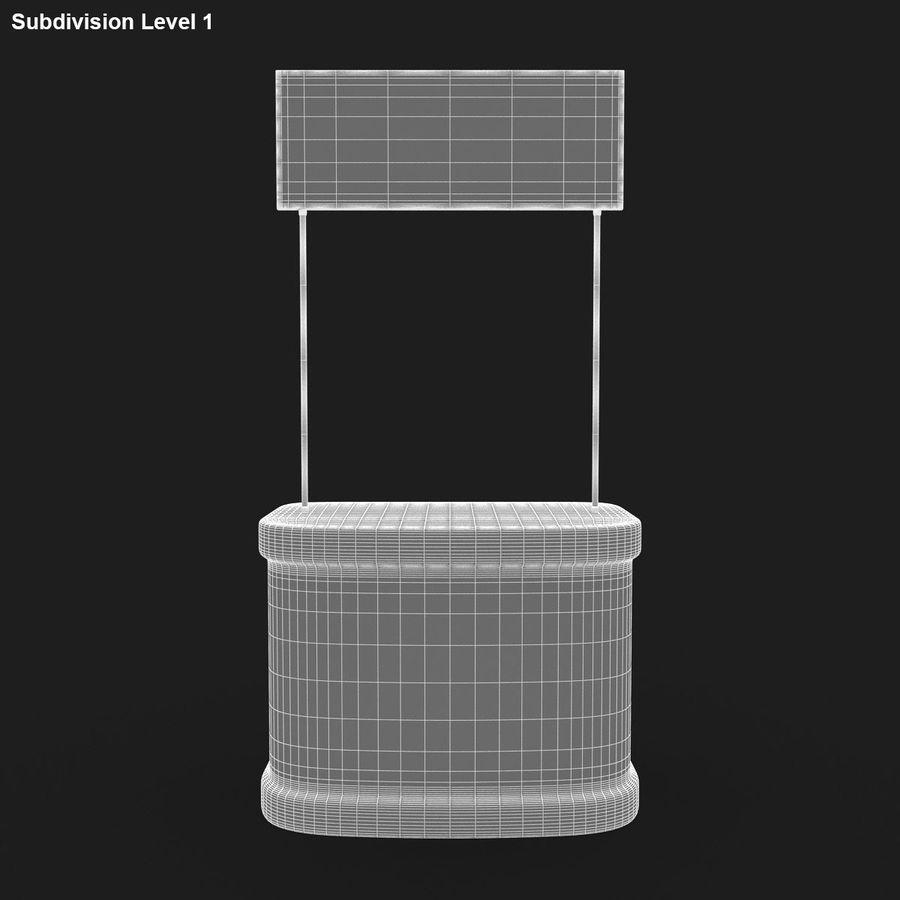 商业摊位集合 royalty-free 3d model - Preview no. 15