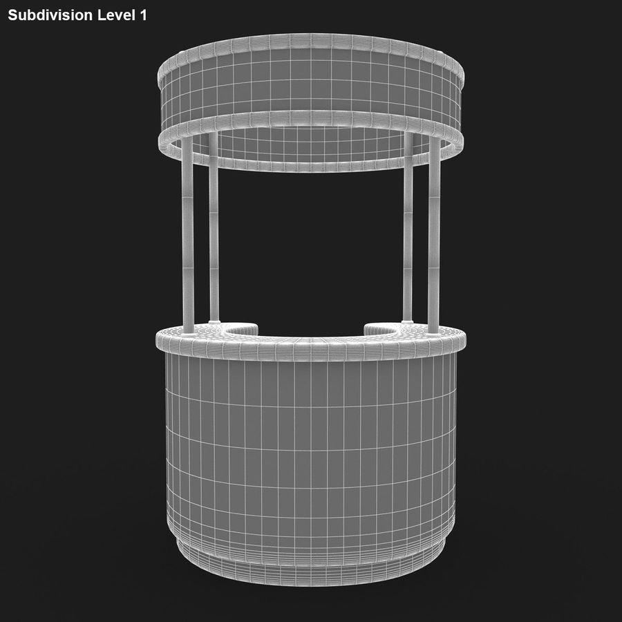 商业摊位集合 royalty-free 3d model - Preview no. 8