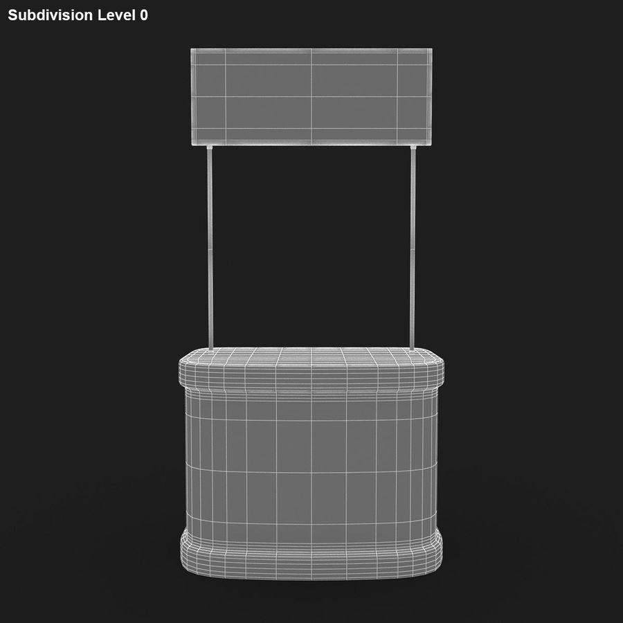 商业摊位集合 royalty-free 3d model - Preview no. 14