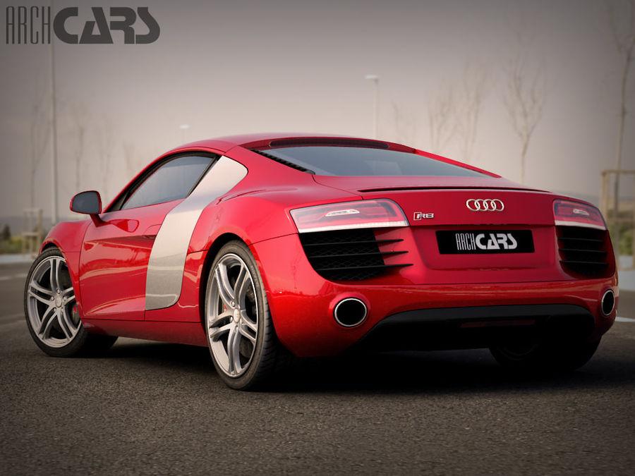 Audi R8 royalty-free 3d model - Preview no. 3
