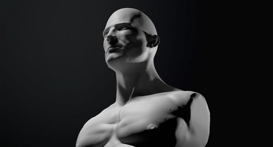 Männliche Büste royalty-free 3d model - Preview no. 12