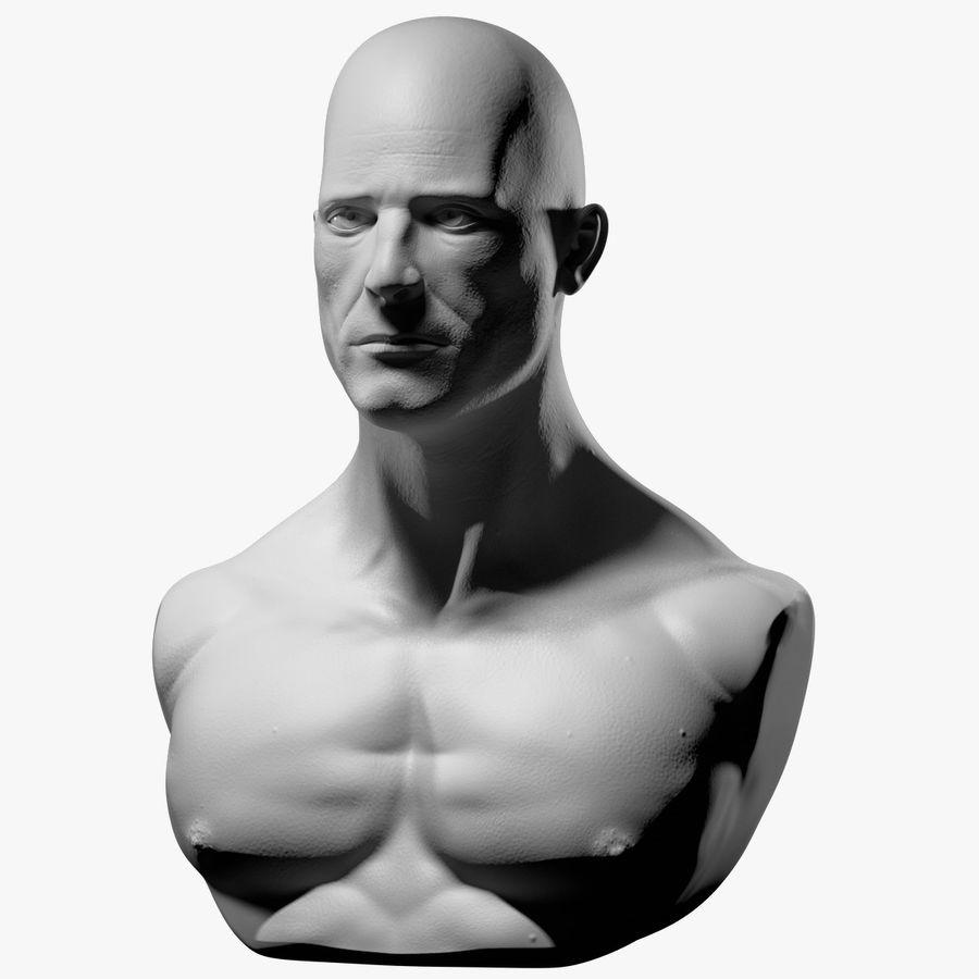 Männliche Büste royalty-free 3d model - Preview no. 1