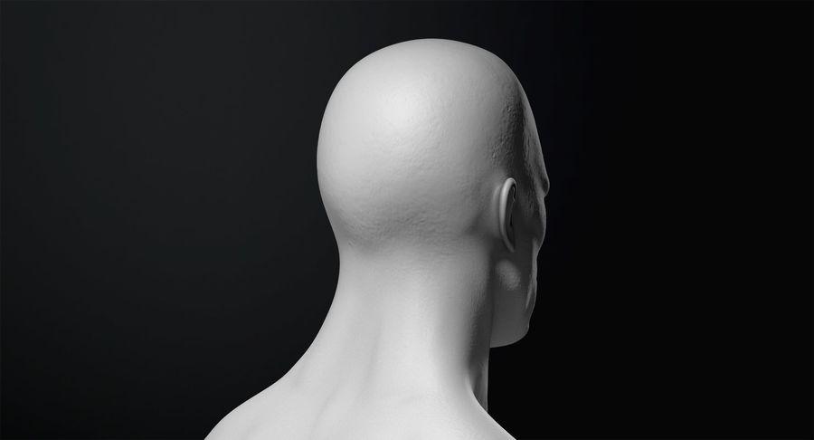 Männliche Büste royalty-free 3d model - Preview no. 15
