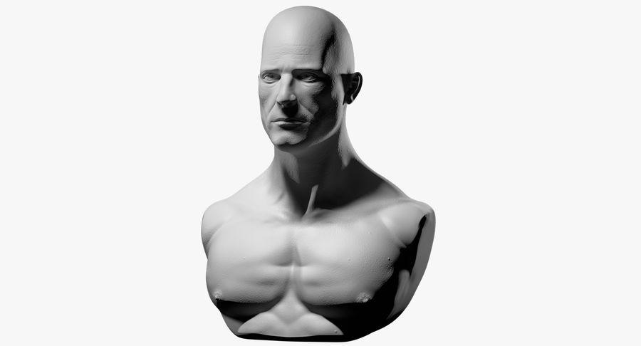Männliche Büste royalty-free 3d model - Preview no. 2