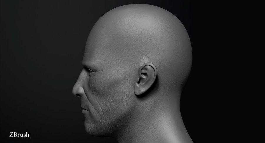 Männliche Büste royalty-free 3d model - Preview no. 7