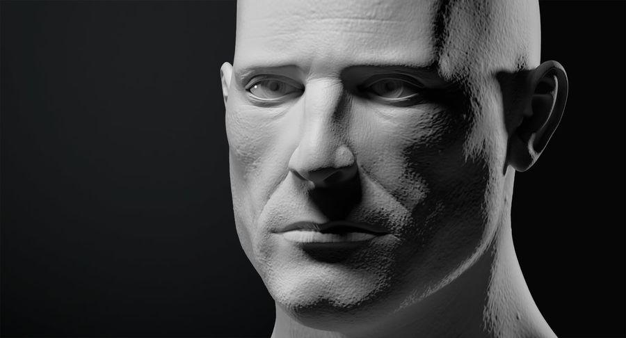 Männliche Büste royalty-free 3d model - Preview no. 8
