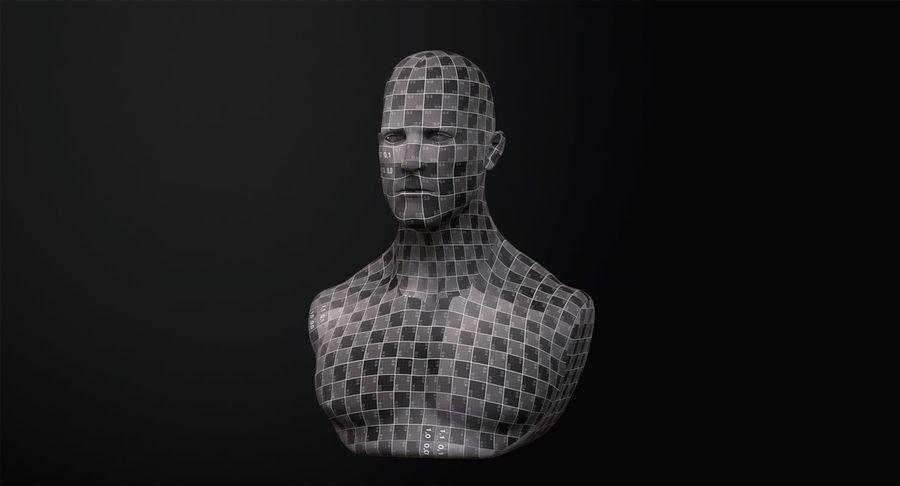 Männliche Büste royalty-free 3d model - Preview no. 19