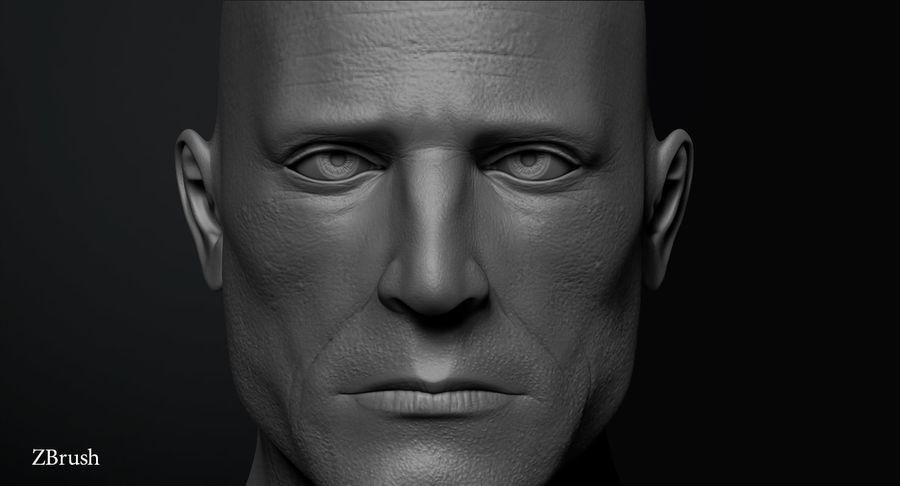 Männliche Büste royalty-free 3d model - Preview no. 4