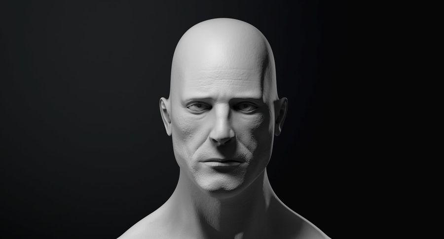 Männliche Büste royalty-free 3d model - Preview no. 9