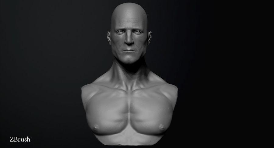 Männliche Büste royalty-free 3d model - Preview no. 6