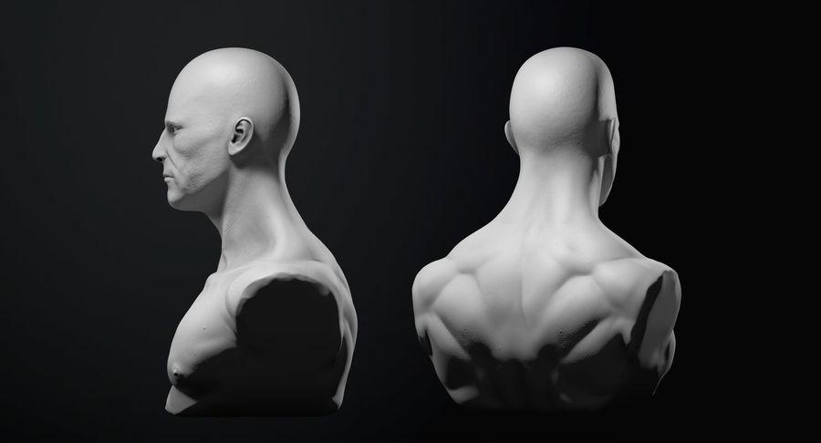 Männliche Büste royalty-free 3d model - Preview no. 11
