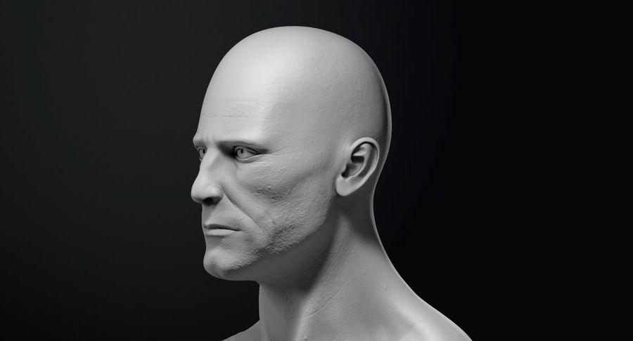 Männliche Büste royalty-free 3d model - Preview no. 14