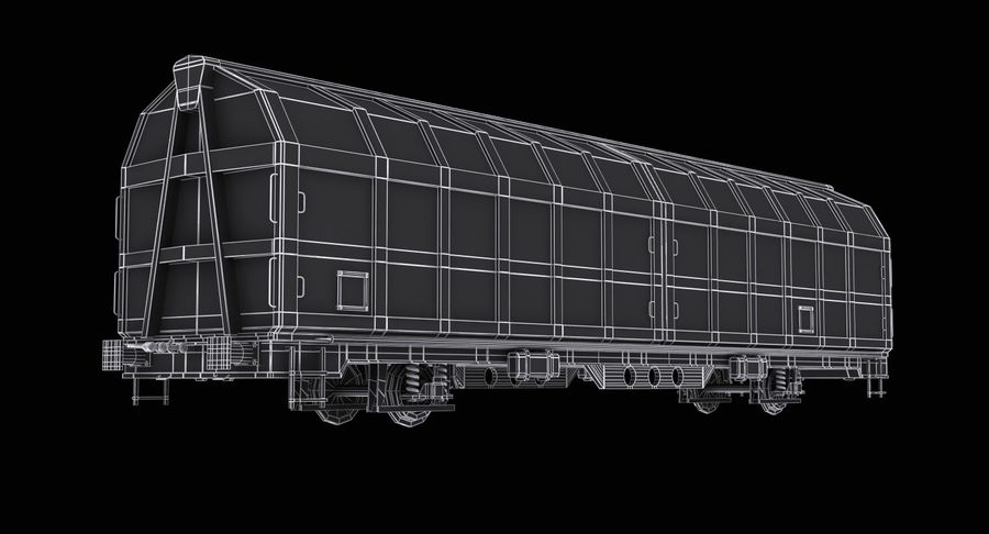 Cargo Railroad Car royalty-free 3d model - Preview no. 12
