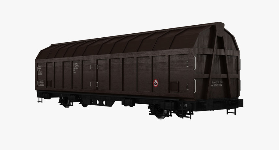 Cargo Railroad Car royalty-free 3d model - Preview no. 2