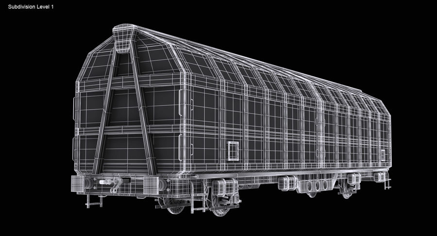 Cargo Railroad Car royalty-free 3d model - Preview no. 16